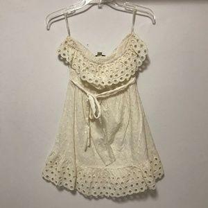 Cream Strapless Forever 21 Dress